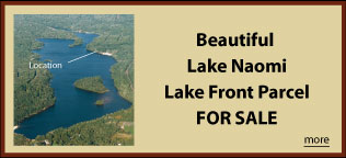 Lake Naomi Lake Front Lot for Sale